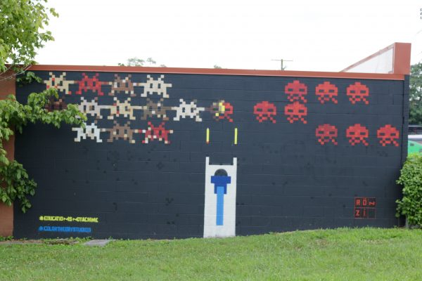 More Nashville Murals You Should Visit | Greta Hollar - 32 More Nashville Murals You Should Visit by popular Nashville blogger Greta Hollar: image of video game mural in Nashville, Tennessee.