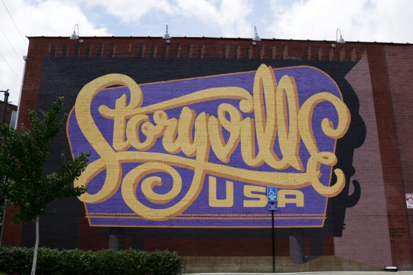 More Nashville Murals You Should Visit | Greta Hollar - 32 More Nashville Murals You Should Visit by popular Nashville blogger Greta Hollar: image of Storyville USA mural in Nashville, Tennessee.