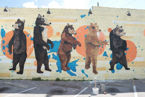 More Nashville Murals You Should Visit | Greta Hollar - 32 More Nashville Murals You Should Visit by popular Nashville blogger Greta Hollar: image of bear mural in Nashville, Tennessee.