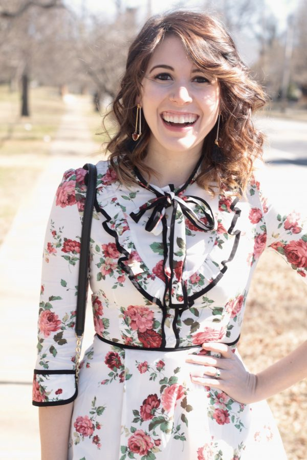 Floral Neck Tie Dress | Greta Hollar
