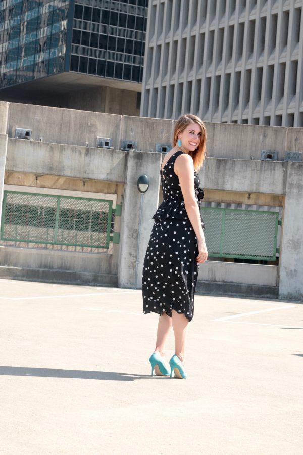 The Perfect Polka Dot Dress That's Under $100 | Greta Hollar