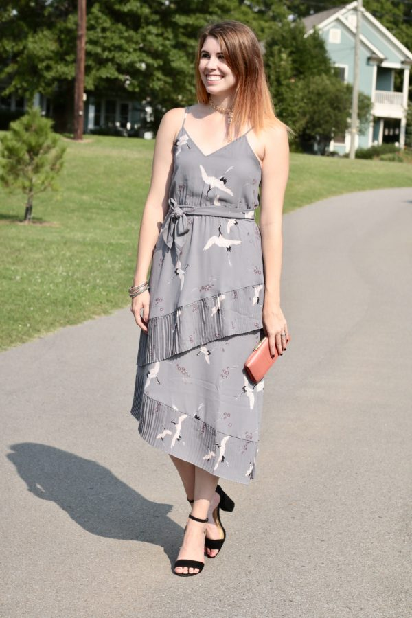 The Prettiest Ruffled Dress + Rose Gold Fringe   Greta Hollar