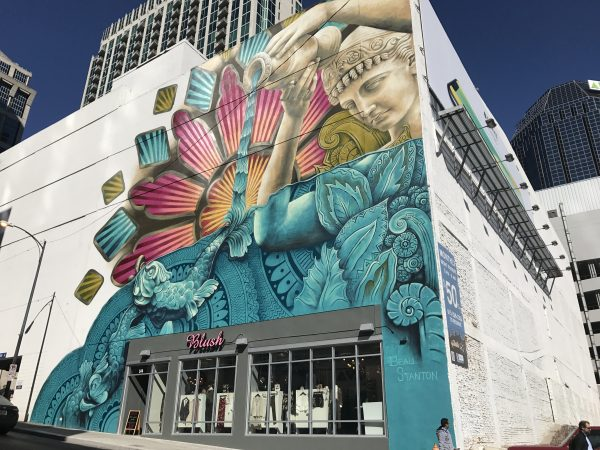 32 More Nashville Murals You Should Visit by popular Nashville blogger Greta Hollar: image of building mural in Nashville, Tennessee.