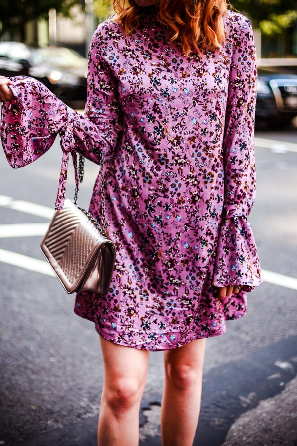 Purple Florals + Day 4 of NYFW | Greta Hollar - ASOS Purple Floral Dress + Day 4 of NYFW by Nashville fashion blogger Greta Hollar