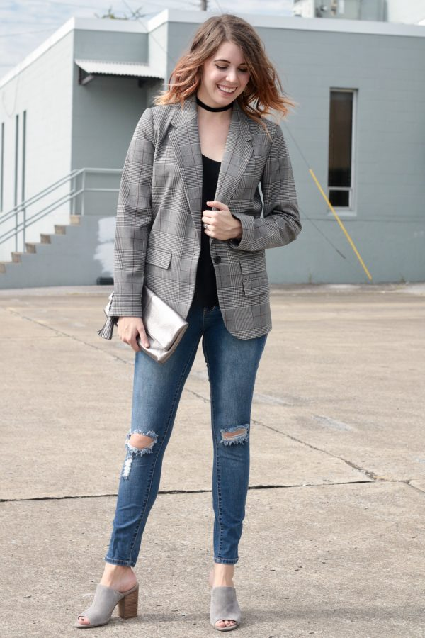 Plaid Blazer That's Only $35   Greta Hollar - Plaid Blazer That's Only $35 by Nashville fashion blogger Greta Hollar