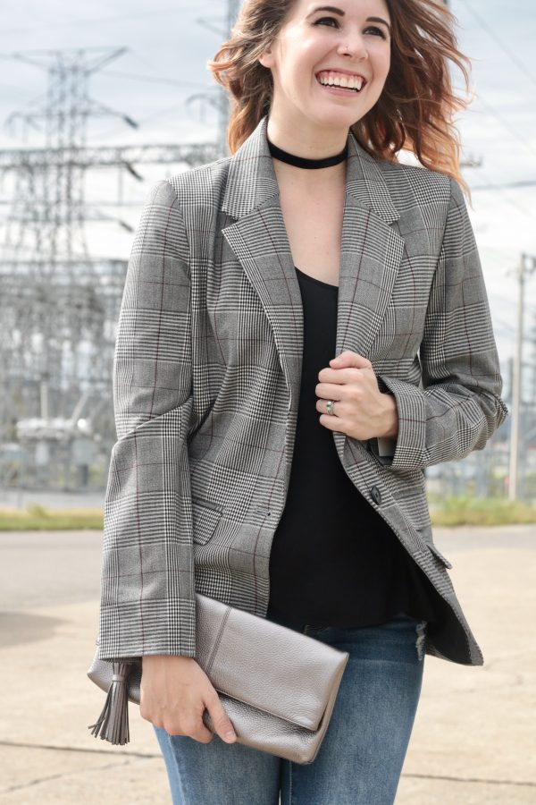 Plaid Blazer That's Only $35 | Greta Hollar - Plaid Blazer That's Only $35 by Nashville fashion blogger Greta Hollar