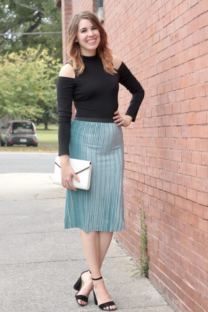 Velvet Pleated Skirt That's Only $55