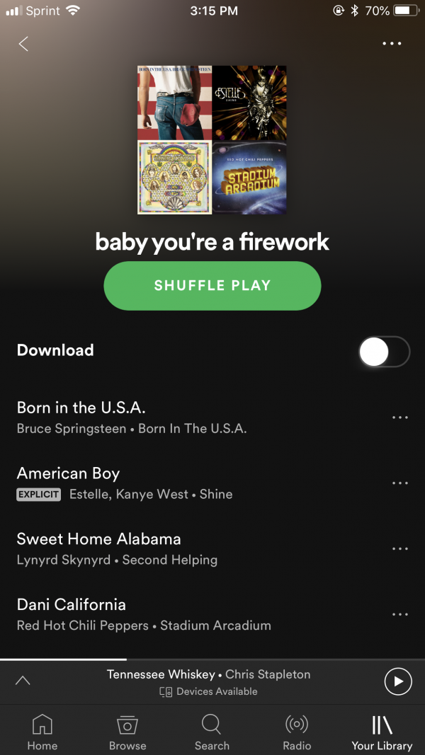 Baby You're a Firework - 4th of July Playlist on Spotify featured by popular Nashville lifestyle blogger Greta Hollar