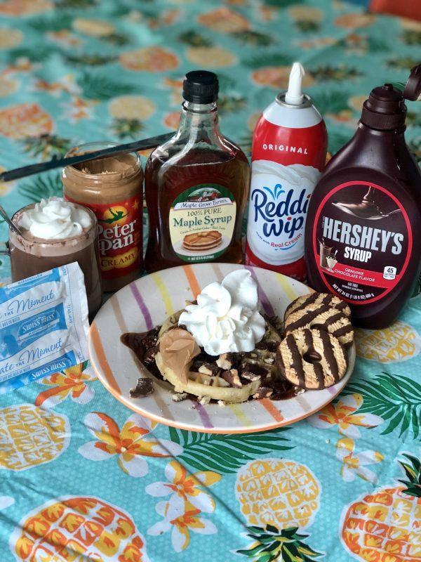 Girl's Brunch Ego Waffle Bar featured by popular Nashville lifestyle blogger Greta Hollar