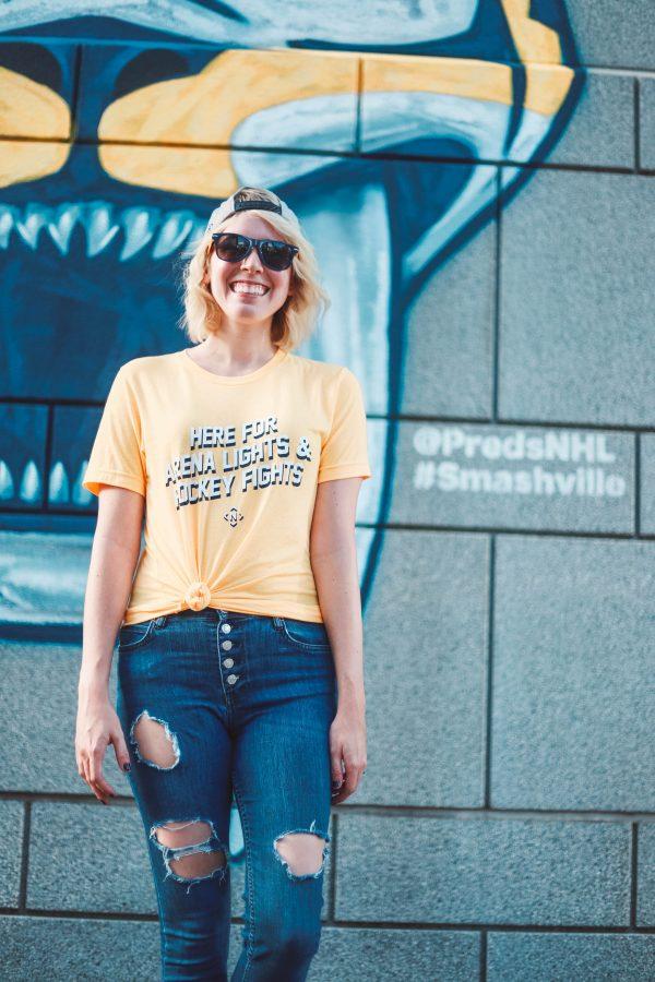 Hockey | Fashion | 4 Outfits to Wear to a Nashville Predators Game featured by top Nashville fashion blog Greta Hollar