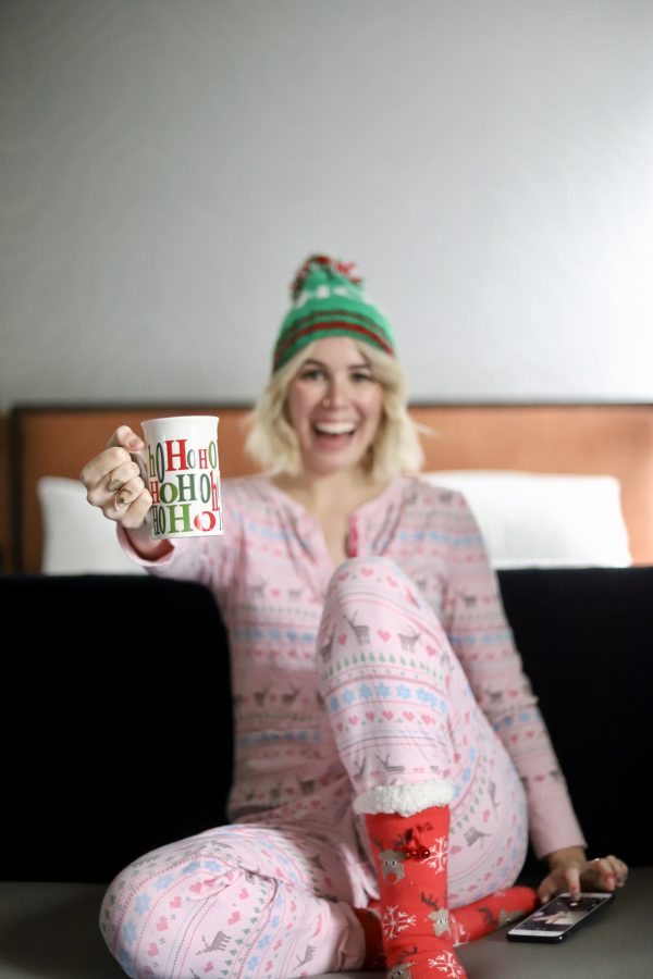 Why I Spend Halloween Night Decorating for Christmas in my Favorite Festive PJs featured by top Nashville lifestyle blog Greta Hollar