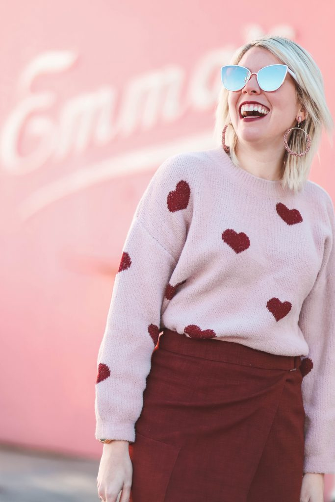 3 Heart Sweaters That Are Perfect for Valentine's Day | Greta Hollar