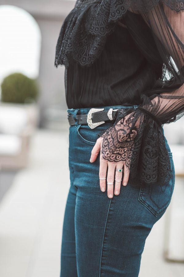 The Perfect Black Lace Top for Date Night | Greta Hollar