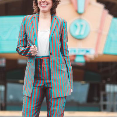 Suited Up in Stripes | Greta Hollar