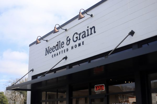 A Day Trip to Columbia, TN | Greta Hollar | Day Trips from Nashville TN: A trip to Columbia TN by popular Nashville blogger, Greta Hollar: image of Needle and Grain Crafted Home store in Columbia TN.