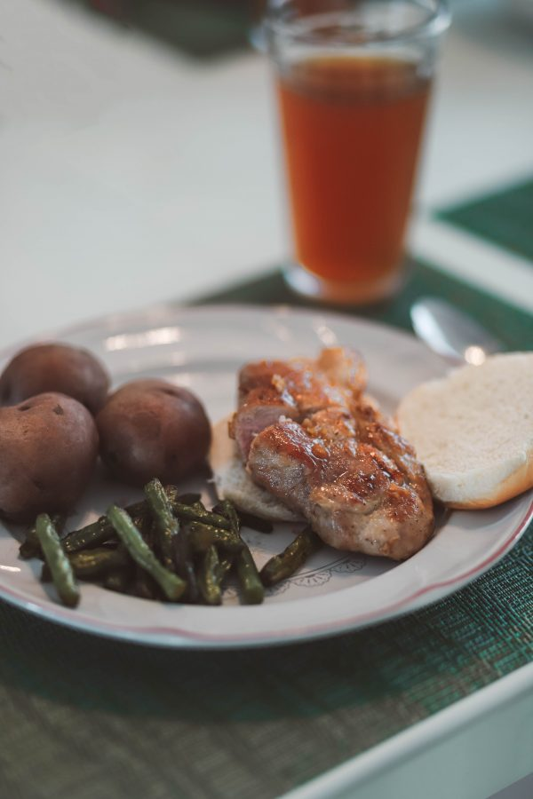 Honey Garlic Pork Chop featured by top US foodie blogger Greta Hollar