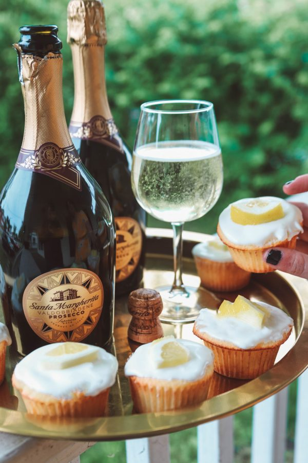 Lemon Cupcakes & Prosecco for Your Next Girl's Night | Greta Hollar