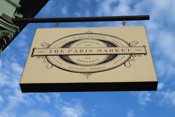 Savannah Travel Guide | Greta Hollar | The Ultimate Savannah Travel Guide by popular Nashville lifestyle blogger, Greta Hollar: image of The Paris Market sign.