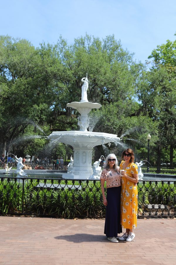 Savannah Travel Guide | Greta Hollar | The Ultimate Savannah Travel Guide by popular Nashville lifestyle blogger, Greta Hollar: image of Forsyth park.