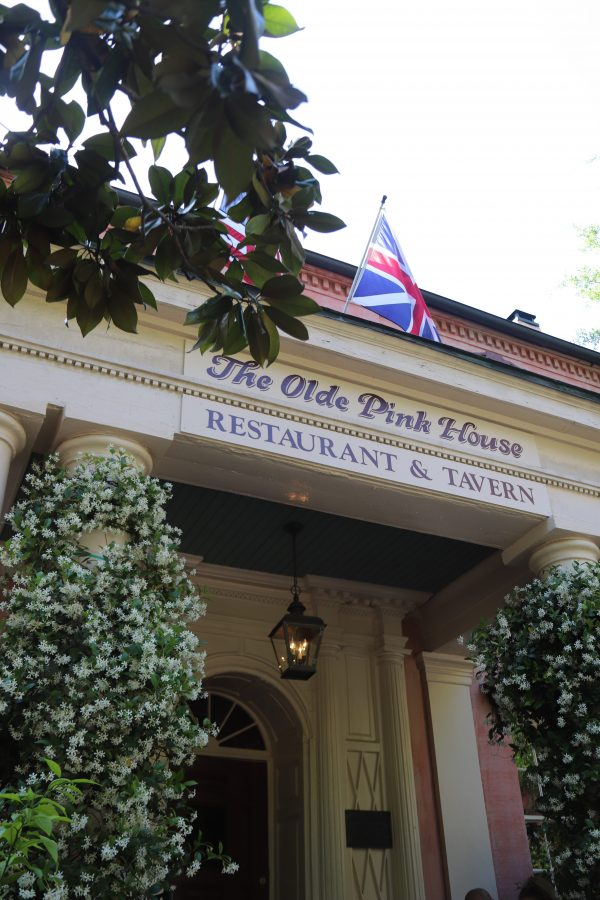 Savannah Travel Guide | Greta Hollar | The Ultimate Savannah Travel Guide by popular Nashville lifestyle blogger, Greta Hollar: image of the Olde Pink House in Savannah georgia.