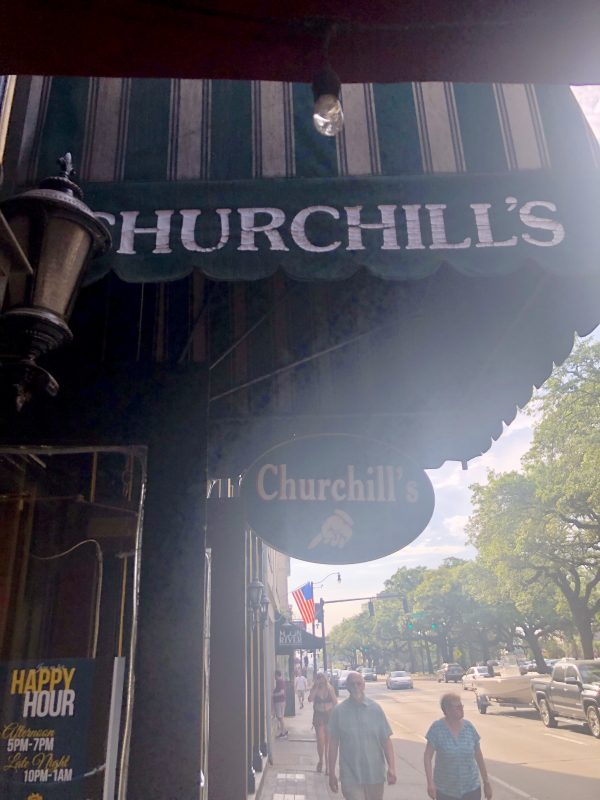 Savannah Travel Guide | Greta Hollar | The Ultimate Savannah Travel Guide by popular Nashville lifestyle blogger, Greta Hollar: image of Churchill's pub in Savannah, GA.