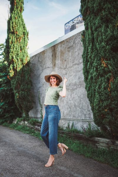 Off the Shoulder Embroidery Top | Greta Hollar