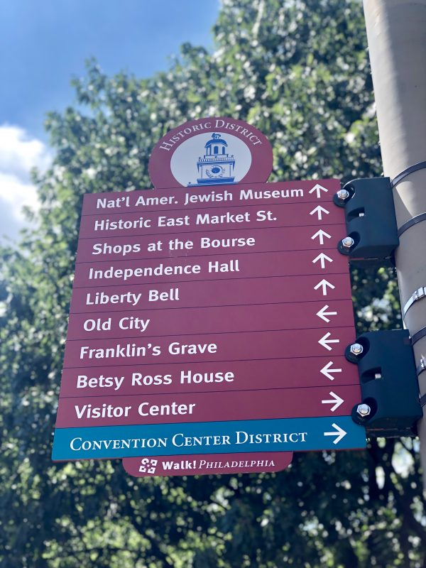 Weekend in Philly | Travel Guide | Greta Hollar | Weekend in Philadelphia | Travel Guide by popular Nashville travel blog, Greta Hollar: image of Walk! Philadelphia sign.