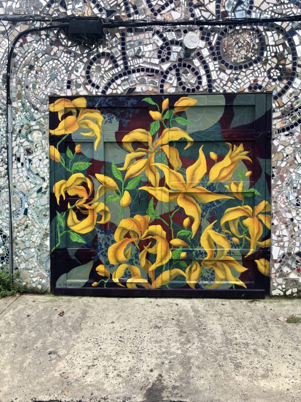 Weekend in Philly | Travel Guide | Greta Hollar | Weekend in Philadelphia | Travel Guide by popular Nashville travel blog, Greta Hollar: image of floral mural at the Magic Gardens.