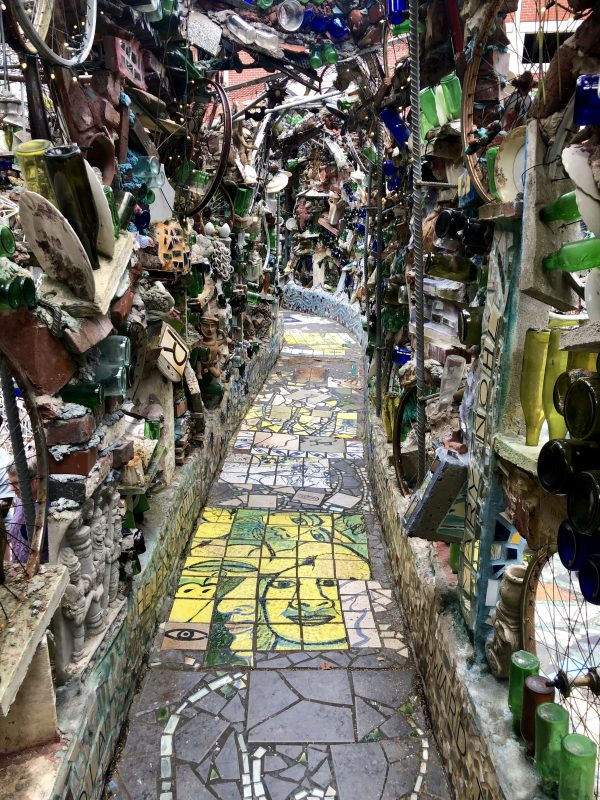 Weekend in Philly | Travel Guide | Greta Hollar | Weekend in Philadelphia | Travel Guide by popular Nashville travel blog, Greta Hollar: image of a walkway in the Magic Gardens.