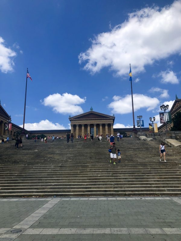 Weekend in Philly | Travel Guide | Greta Hollar | Weekend in Philadelphia | Travel Guide by popular Nashville travel blog, Greta Hollar: image of Philadelphia Museum of Art staircase.