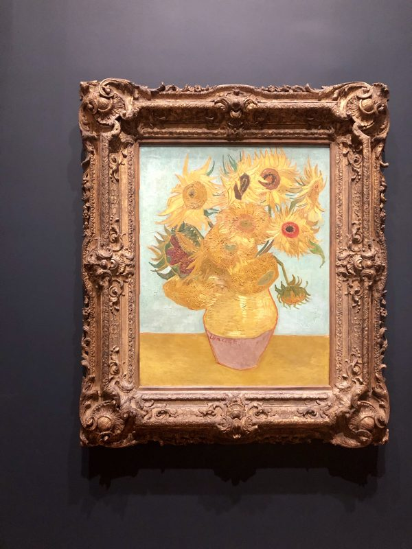 Weekend in Philly | Travel Guide | Greta Hollar | Weekend in Philadelphia | Travel Guide by popular Nashville travel blog, Greta Hollar: image of a sunflower painting by Vincent Van Gogh.