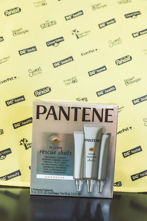 Jumpstarting My Hair With Pantene Shots | Greta Hollar | Jumpstarting My Hair With Pantene Intense Rescue Shots by popular Nashville life and style blogger, Greta Hollar: image of a package of Pantene Intense Rescue Shots.