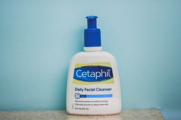 5 Things You Need for a Long Flight | Greta Hollar | Top 5 Long Haul Flight Essentials You Need by popular Nashville life and style blogger, Greta Hollar: image of a bottle of Cetaphil Daily Facial Cleanser.