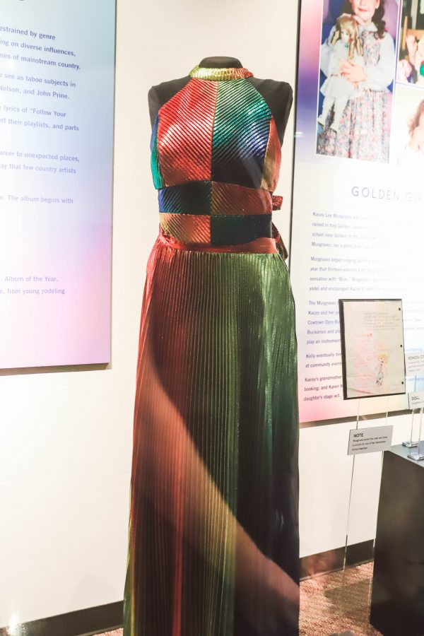Troubadour Membership at The Country Music Hall of Fame and Museum | Greta Hollar | Troubadour Membership at The Country Music Hall of Fame and Museum in Nashville by popular Nashville blogger, Greta Hollar: image of a dress Kacey Musgraves wore at the Country Music Hall of Fame and Museum