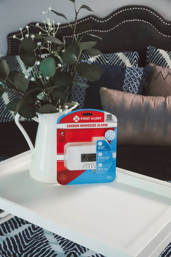 The One Thing I'm Packing for My End of Summer Vacation? My First Alert CO Alarm!   Greta Hollar   The One Thing I'm Packing for My End of Summer Vacation? My First Alert CO Alarm! by popular Nashville life and style blogger, Greta Hollar: image of a First Alert CO Alarm.