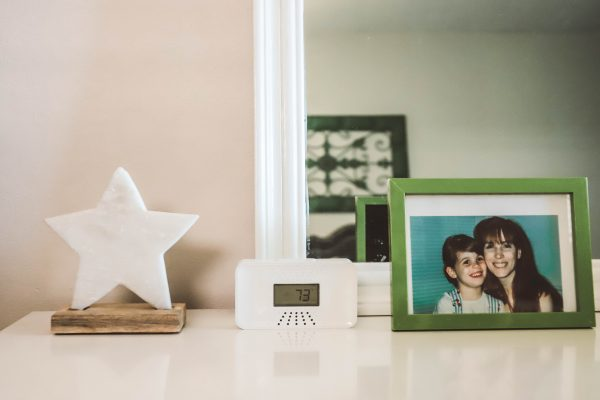 The One Thing I'm Packing for My End of Summer Vacation? My First Alert CO Alarm! | Greta Hollar | The One Thing I'm Packing for My End of Summer Vacation? My First Alert CO Alarm! by popular Nashville life and style blogger, Greta Hollar: image of a First Alert CO Alarm on a white dresser.