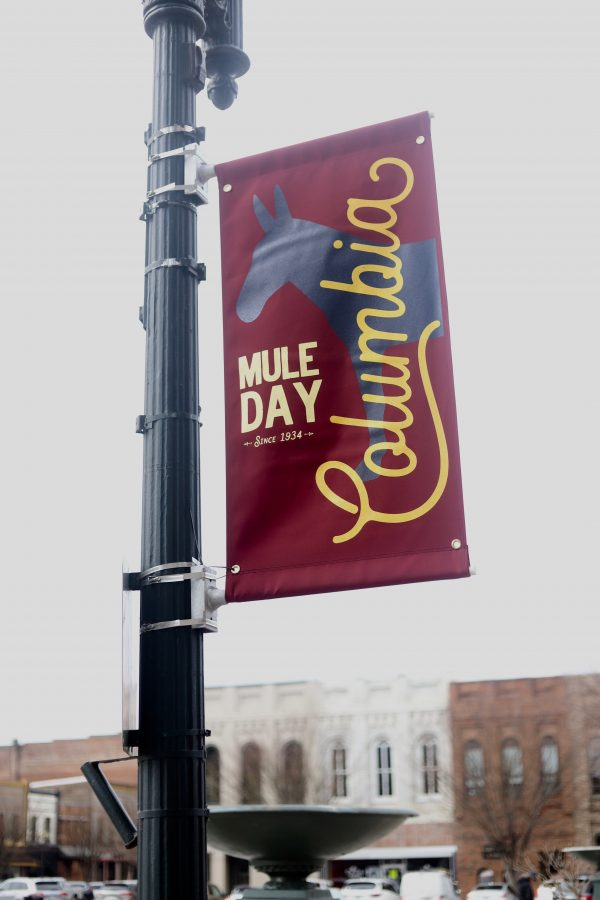 A Day Trip to Columbia, TN | Greta Hollar | Day Trips from Nashville TN: A trip to Columbia TN by popular Nashville blogger, Greta Hollar: image of Columbia TN Mule Day banner.