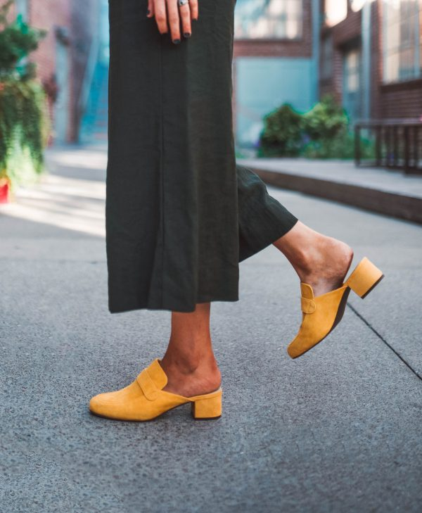 Fall Footwear at NYFW | Greta Hollar | NYFW Shoe Trends by popular Nashville fashion blogger, Greta Hollar: image of a woman outside in New York City wearing SeyChelles MIMIC MULE.