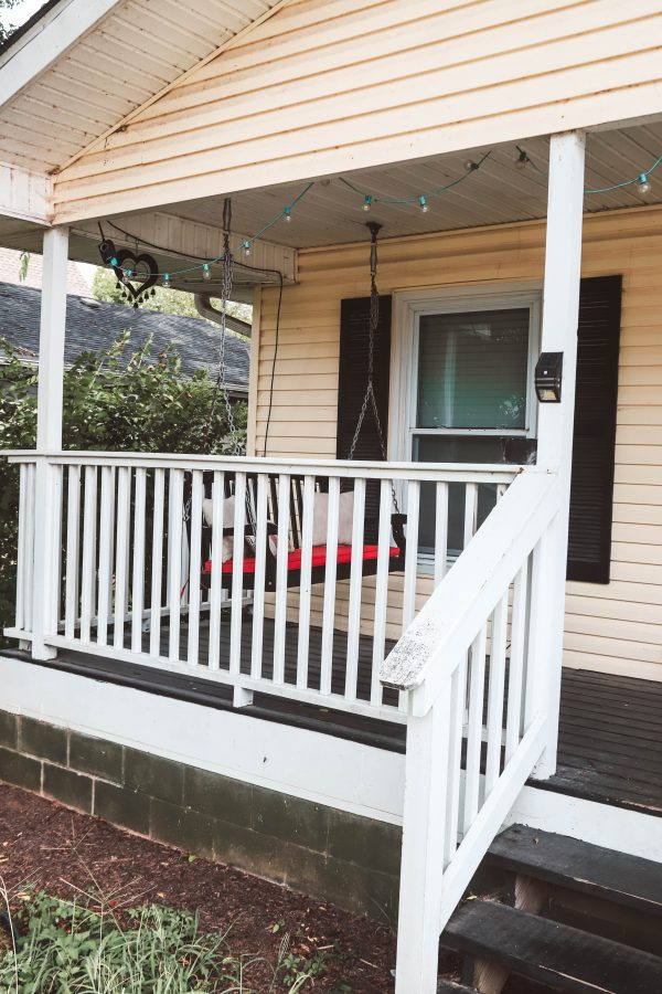 Easy and Affordable Ways to Update Your Porch | Greta Hollar | Easy and Affordable Front Porch Makeover Ideas by popular Nashville lifestyle blogger, Greta Hollar: image of a front porch.
