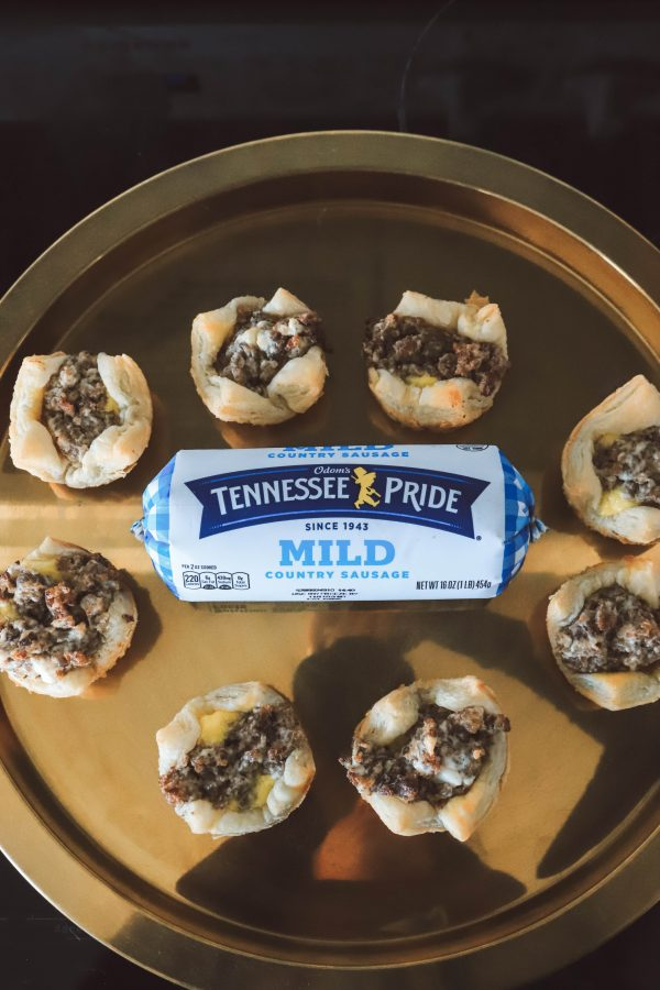 The Perfect Appetizer for a Party: Sausage Cream Cheese Bites | Greta Hollar | The Perfect Appetizer for a Party: Sausage Cream Cheese Bites by popular Nashville life and style blogger, Greta Hollar: image of sausage cream cheese bites made from Tennessee Pride country sausage.