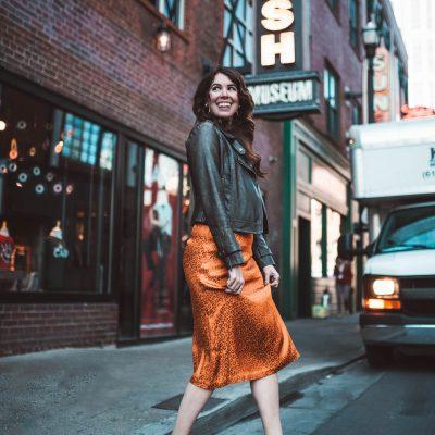 An Alternate Way to Style a Silk Skirt | Greta Hollar