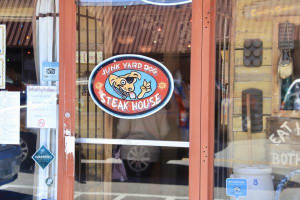 A Couples Getaway to Hohenwald, TN   Greta Hollar   A Couples Getaway: Things to do in Hohenwald TN by popular Nashville travel blogger, Greta Hollar: image of Junk Yard Dog Steak House?