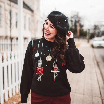 5 of My Favorite Christmas Sweaters | Greta Hollar