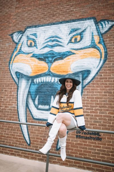 Outfits to Wear to a Nashville Predators Game | Greta Hollar