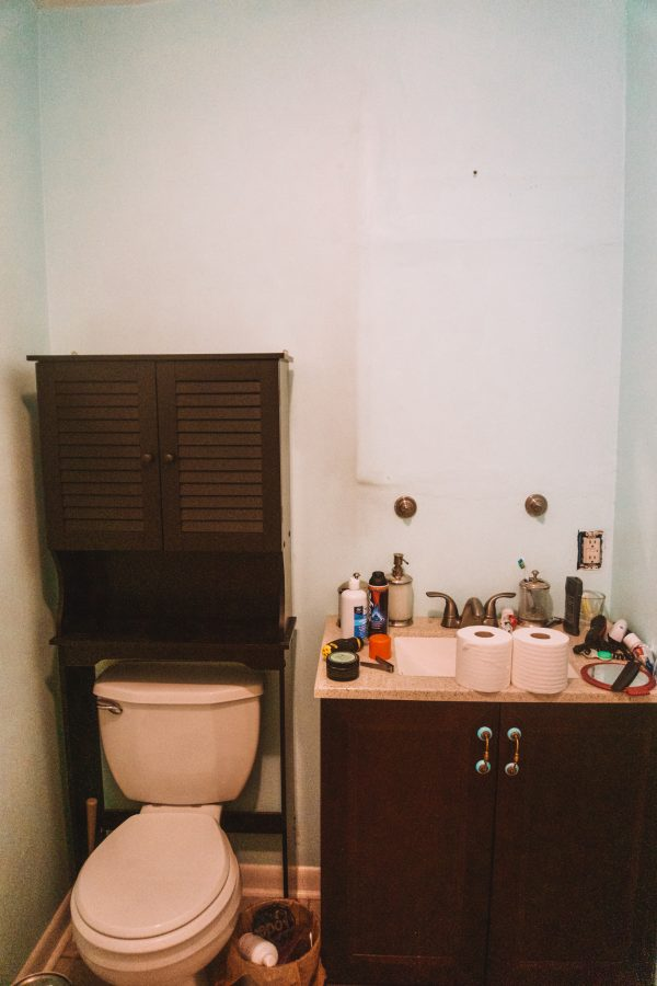 Before and After: Guest Bathroom Paint Colors with Sherwin Williams | Greta Hollar