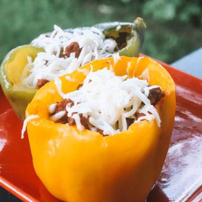 Easy Stuffed Bell Pepper Recipe with Ground Beef | Greta Hollar