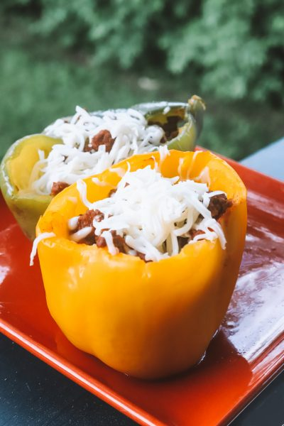 Easy Stuffed Bell Pepper Recipe with Ground Beef | Greta Hollar