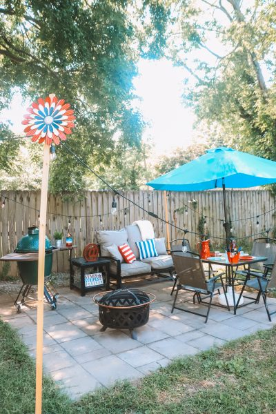 Backyard Makeover: Americana Decor with Old Time Pottery | Greta Hollar