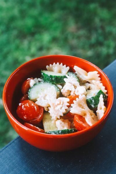 Easy Summer Dishes: Mediterranean Pasta Salad Recipe | Greta Hollar