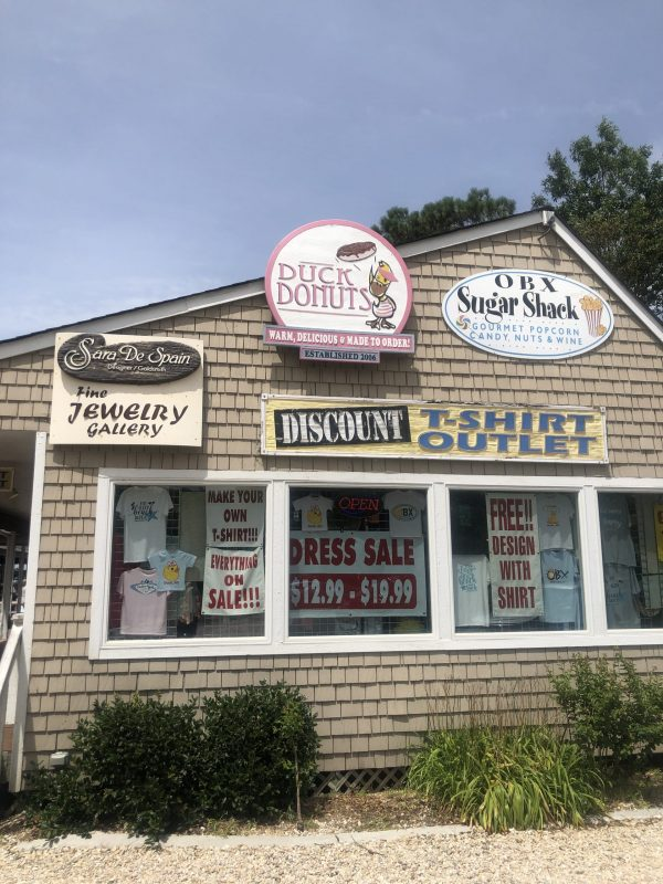COVID Travel: The Best Things to Do Outer Banks, NC When Social Distancing | Greta Hollar |  Outer Banks NC by popular Nashville travel blogger, Greta Hollar: image of Duck Donuts shop.